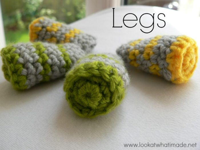 Crochet animal legs striped