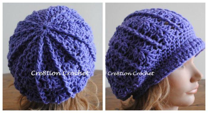 Crea8tion Crochet Newsboy Slouch Crochet Hat Pattern