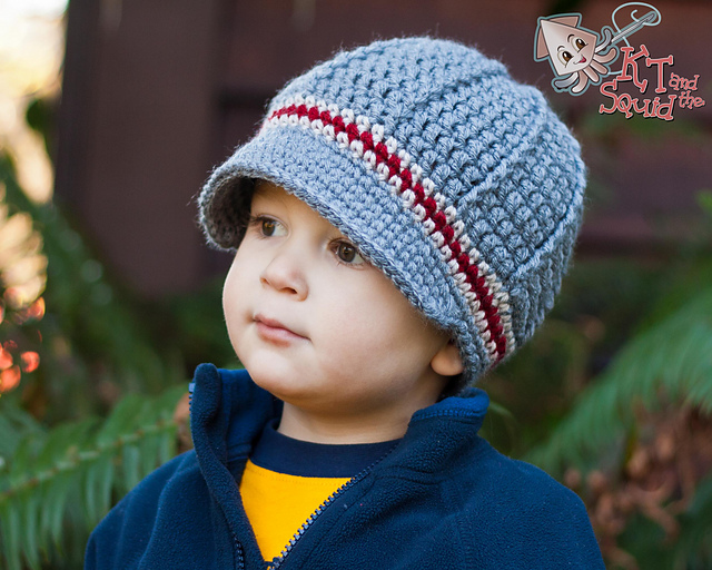Perfect Stripe Newsboy Hat KT and the Squid