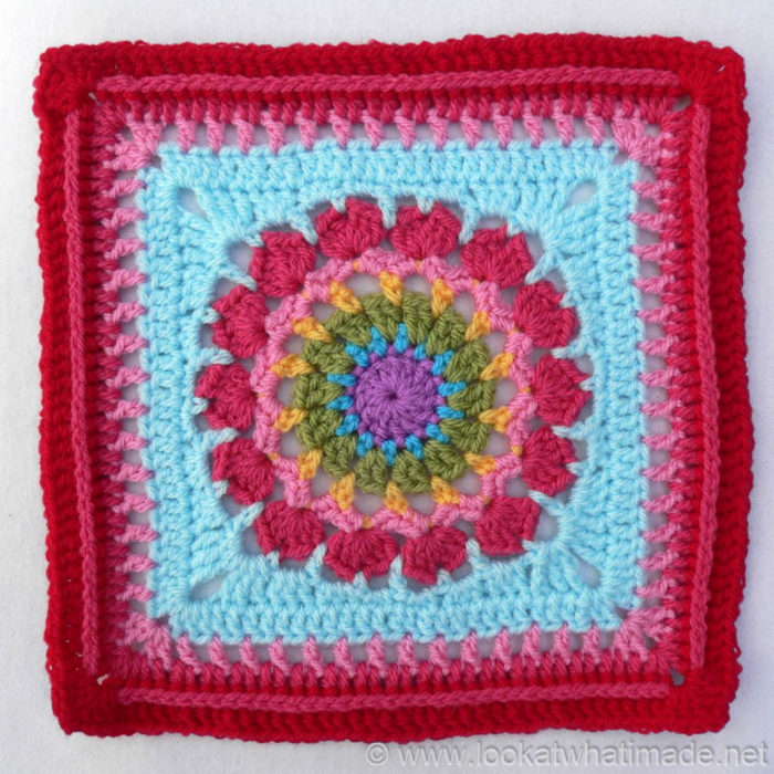 Flower Burst Square Block a Week CAL 2014