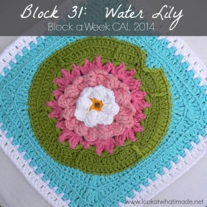 Water Lily Crochet Square Block a Week CAL 2014 Photo Tutorial