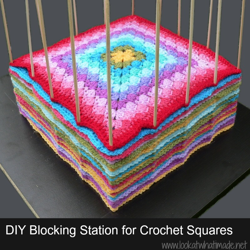 Blocking Crochet Squares