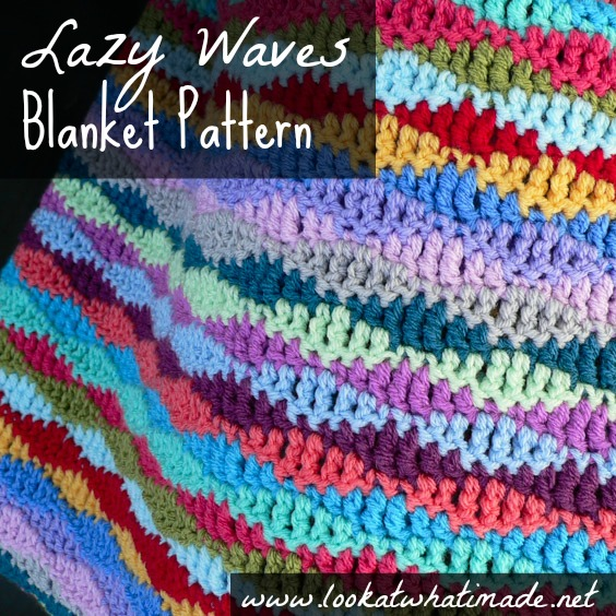 Lazy Waves Blanket Pattern