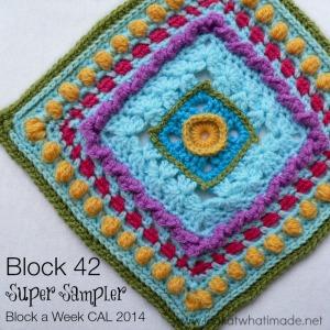 Super Sampler Square Block a Week CAL 2014