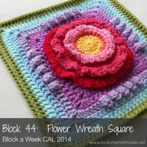 Flower Wreath Square Photo Tutorial Block a Week CAL 2014