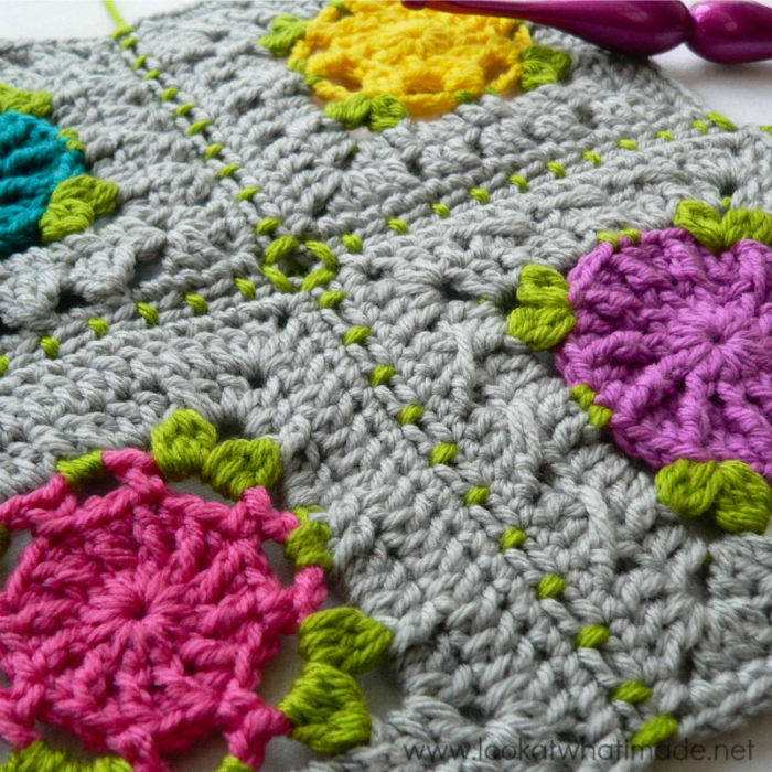 joining crochet squares diagonally