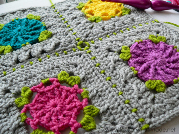 Joining Crochet Squares into Foursquares Photo Tutorial