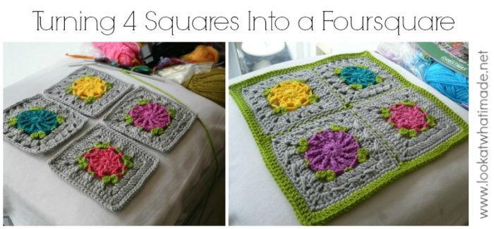 Joining Crochet Squares into Foursquares