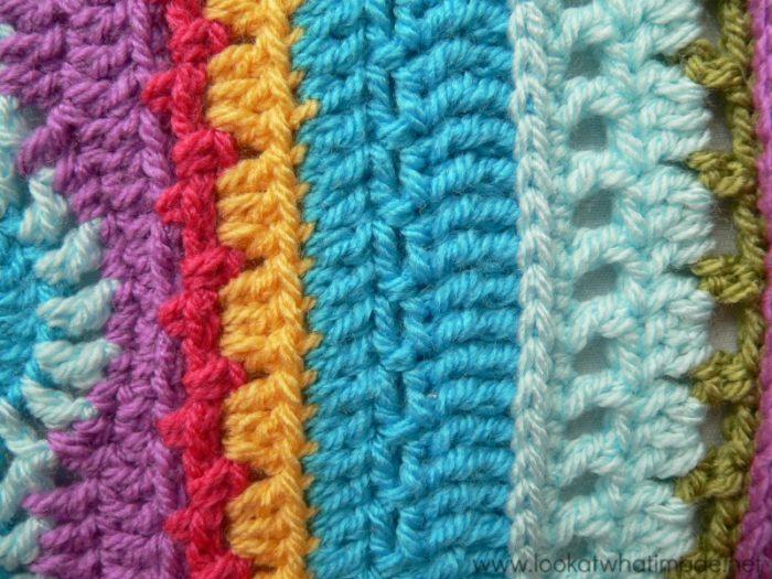 Sc ch 1 skip 1 crochet seam