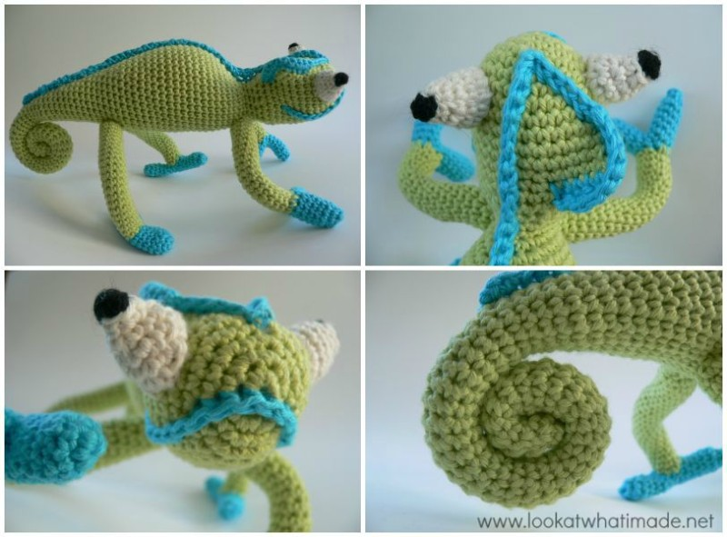 4 Fabulous Crochet Lizard Patterns - A Mini Round-up ⋆ Look At ... | 591x800