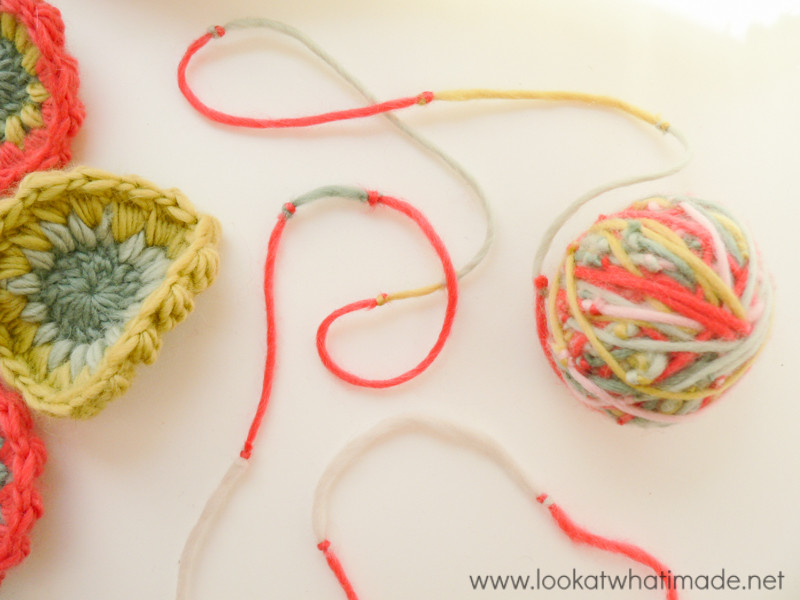 Scrap Yarn Project Crochet Organza Bag Using a Magic Ball