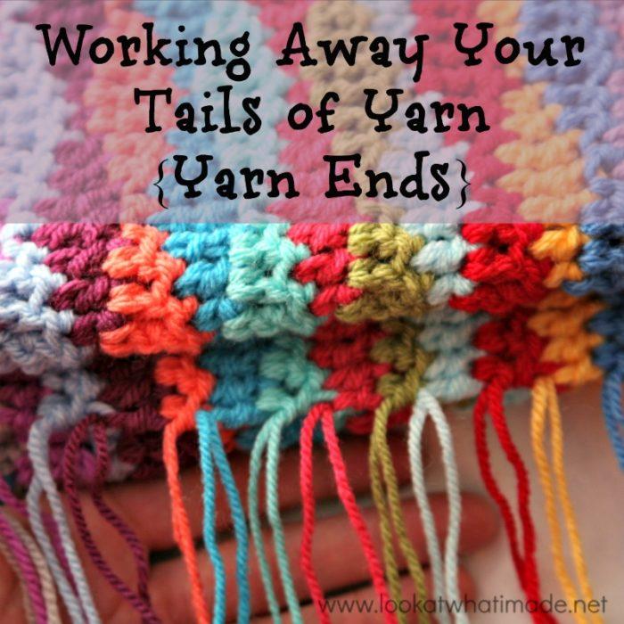 Working Away Tails of Yarn