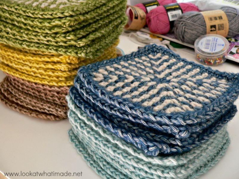 Crochet Linen Stitch Squares