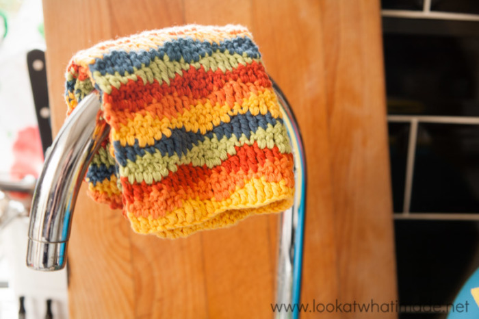 Lazy Waves Dishcloth Pattern