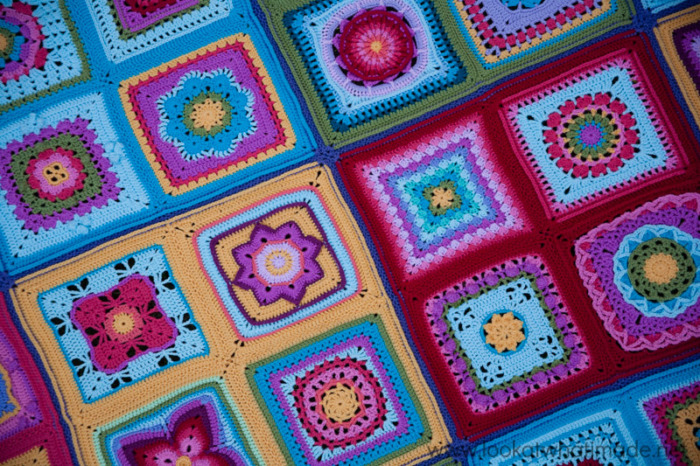 Crochet Afghan Colourful Squares