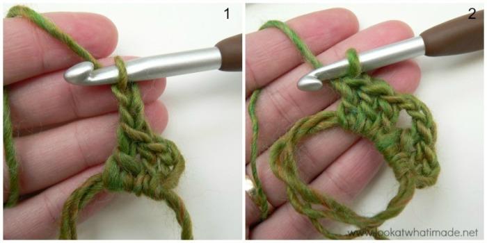 Continuous Solid Square Crochet Square
