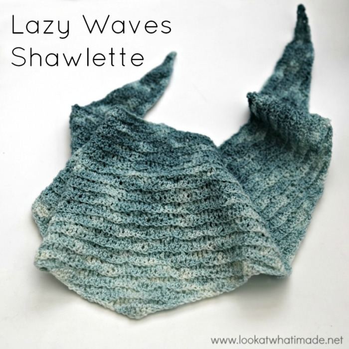 Lazy Waves Shawlette Crochet Pattern