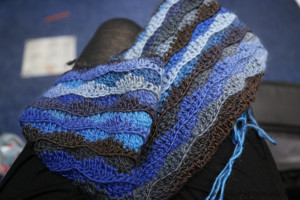 Monday Blues Free Crochet Shawl Pattern by Lookatwhatimade