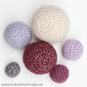 Hdc Crochet Balls in Different Sizes Using Same Formula