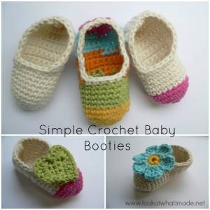Free Customizable Crochet Baby Booties Pattern