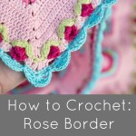 Dainty crochet Rose border with scallops