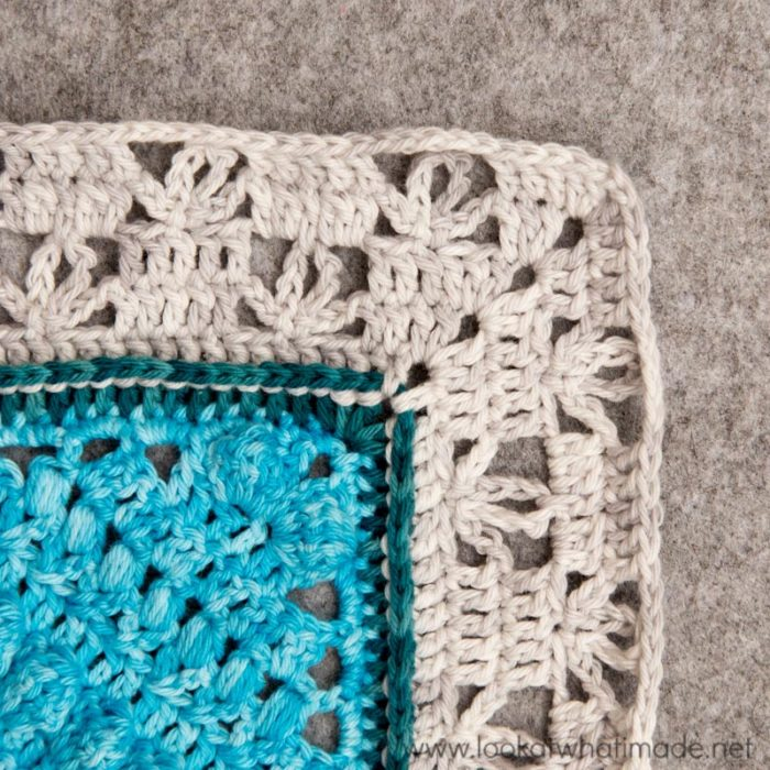 Charlotte Large Crochet Square Part 3 and Banksia Border