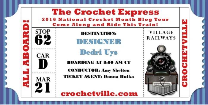 Dedri Uys Crochet Express Ticket Crochetville Blog Tour 2016