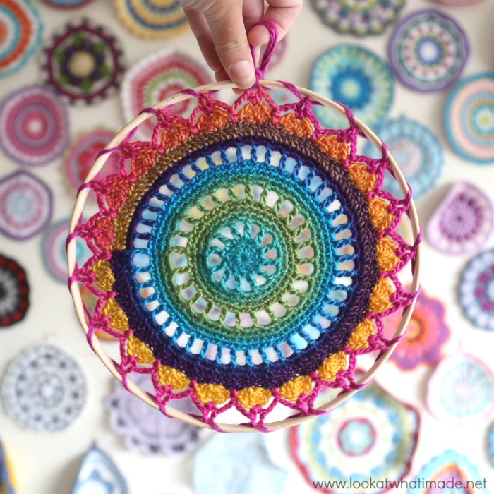 easy crochet mandala bright yarn
