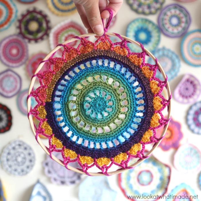 easy crochet mandala bright yarn