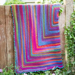 Joy's Journey Continuous Crochet Blanket