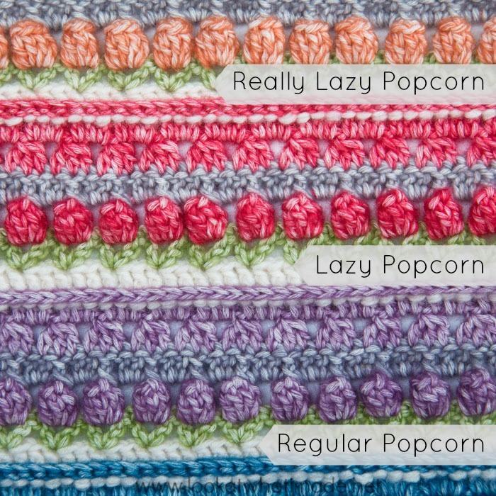 How to Crochet Really Lazy Popcorn Stitch