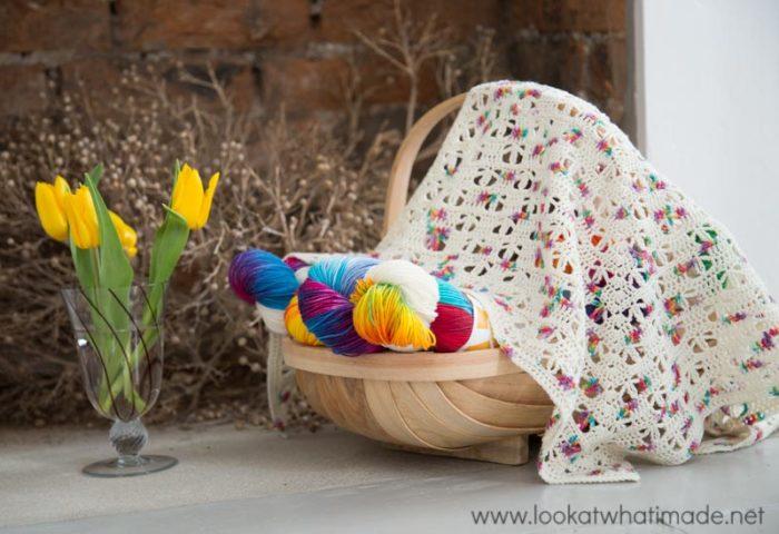Banksia Shawl Free Crochet Pattern