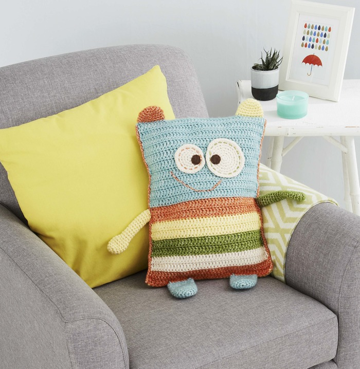 Monster Pillow Cover by Tatsiana Kupryianchyk