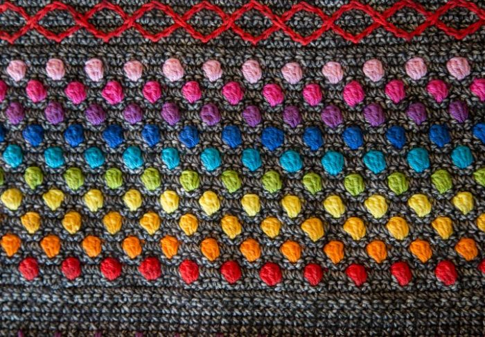 Hygge CAL Hygge Shawl Crochet Cross Stitch