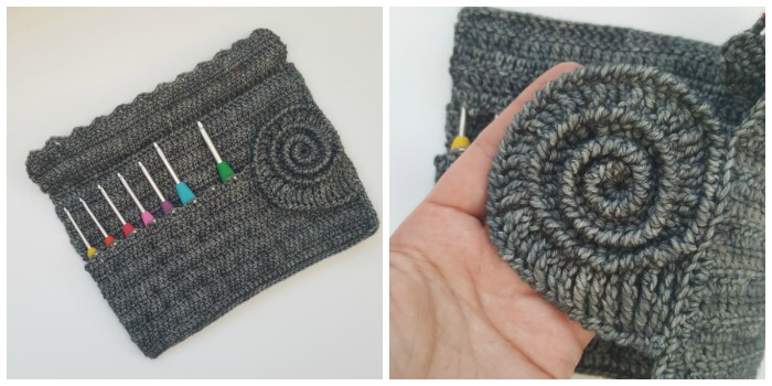 Ammonite Crochet Hook Roll Pattern