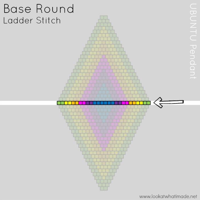 Beaded Diamond Pendant Template