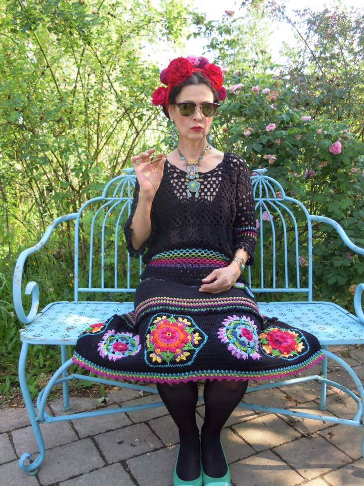 Gorgeous dress featuring Frida's Flowers