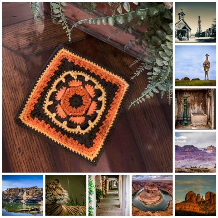 Maricopa Sun Crochet Square