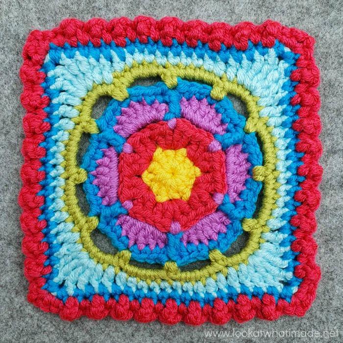 bright crochet square