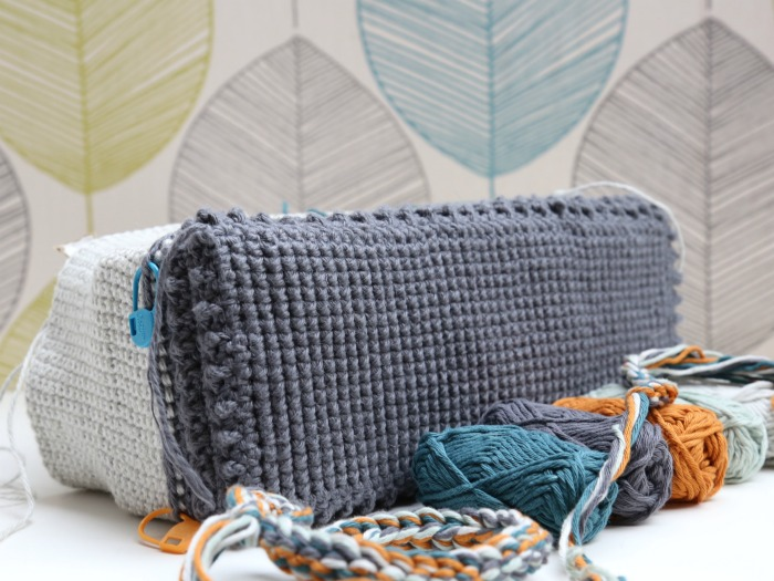 textured crochet bag base