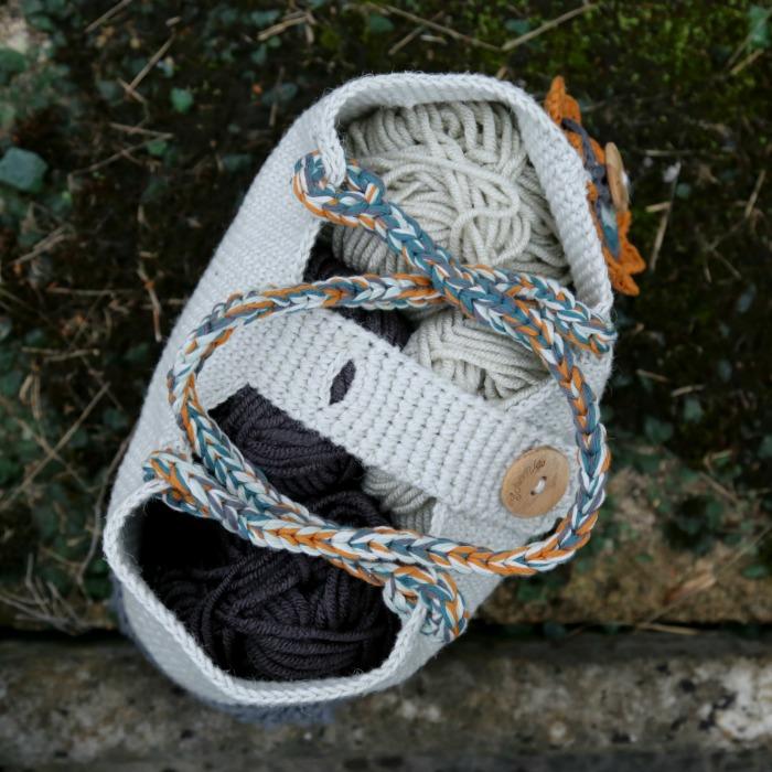 Crochet Bag Full of Yarn