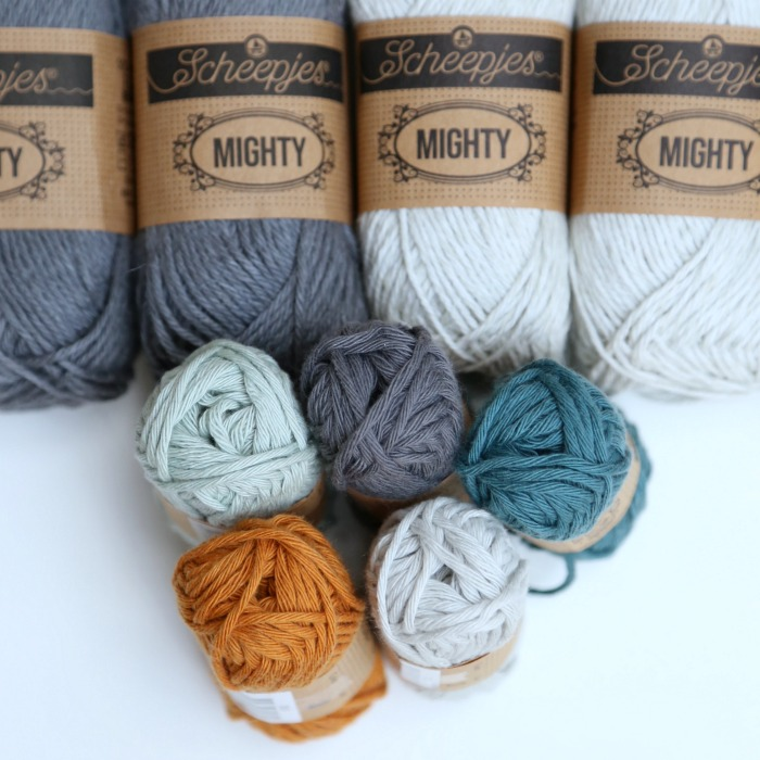 Scheepjes Cahlista and Mighty Yarn