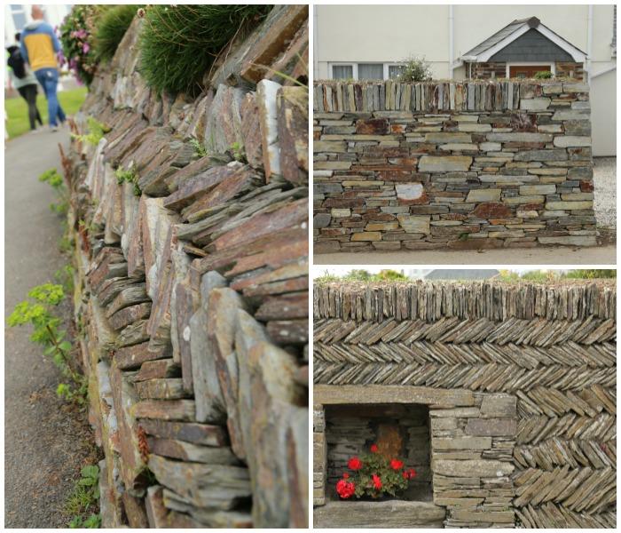 Cornwall Tintagel Herringbone Slate Walls