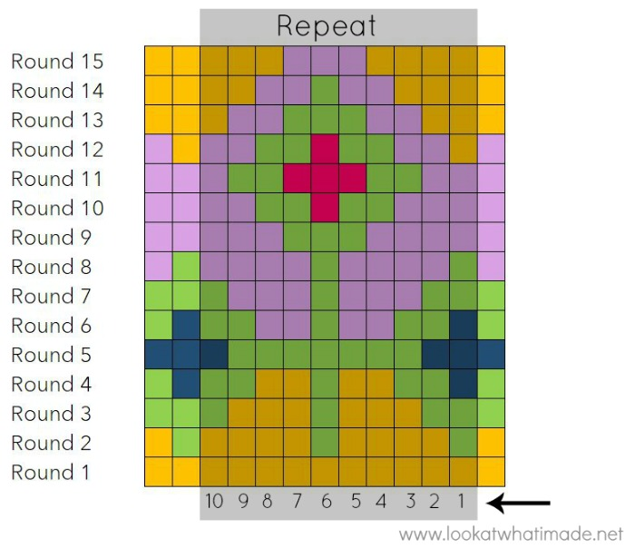 Example Tapestry Crochet Chart Frozen In Time Pattern